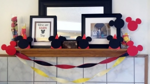 Those Mickey Mouse cutouts were the only Mickey specific thing, besides printables, I bought for the party.